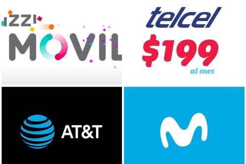 Así está la guerra de planes de renta de 200 pesos en México: comparación de ofertas de Izzi Móvil, Telcel, AT&T y Movistar