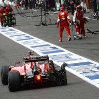El lío con el reventón del neumático de Vettel