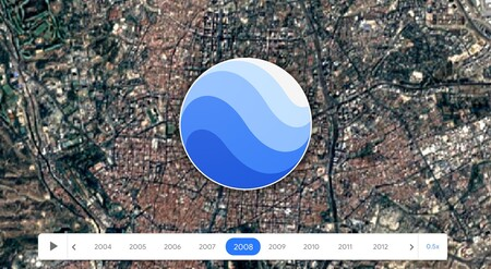 Google Earth permite viajar en el tiempo con fotos aéreas de años anteriores, en Android de forma experimental