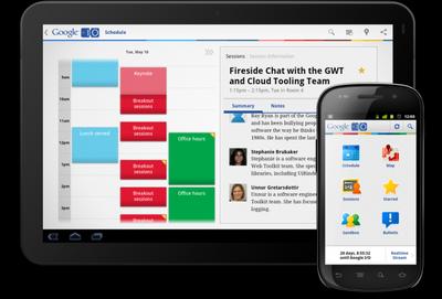 Aplicación de la Google I/O 2011 para Android, así no nos perderemos ninguna conferencia