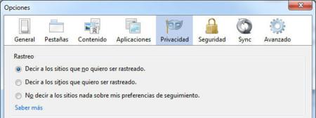 Firefox 21, nuevas opciones Do Not Track