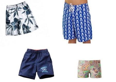 3abfe8601 Para los niños apuesta por bañadores tipo bermudas con estampados flores  para conseguir un look muy tropical. A los niños con un estilo más modernos  seguro ...