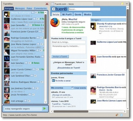Tuentifox, extensión de Tuenti para Firefox