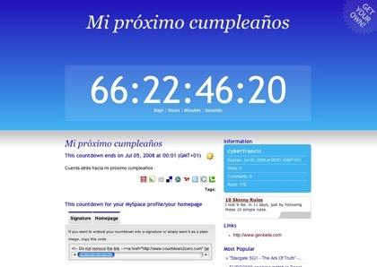 Countdown2zero, nuestro contador regresivo en la web