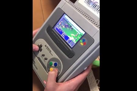 """Quién necesita una Nintendo Switch cuando puedes tener una increíble SuperNES """"portátil"""""""