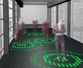 Un suelo de LED que reacciona a nuestro paso