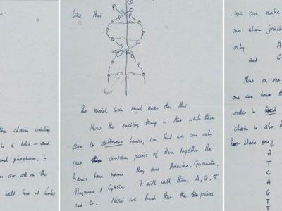 La carta más cara jamás vendida en una subasta tiene tema científico: el ADN
