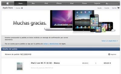 El lanzamiento del iPad 2 en la tienda online de Apple, una compra agridulce
