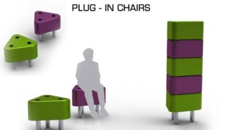 Plug-in-chairs, sillas apilables... y conectadas