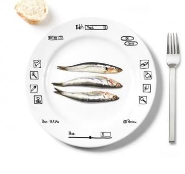 """Una vajilla para que los amantes del diseño digital """"editen"""" la comida"""