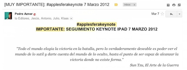 Captura seguimiento keynote Applesfera