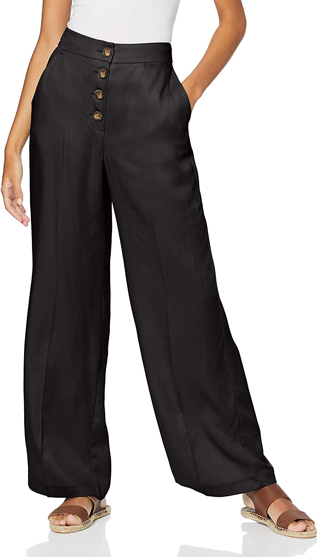 Marca Amazon - find. Pantalón Ancho Mujer