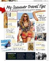 Dos cosméticos esenciales de Beyoncé durante sus vacaciones de verano