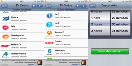 Televisión iphone 3