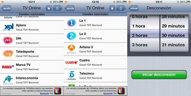 Televisión iphone 3
