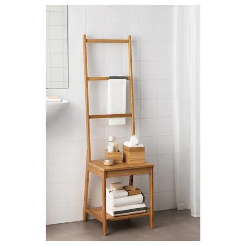 Silla- toallero de bambú de IKEA