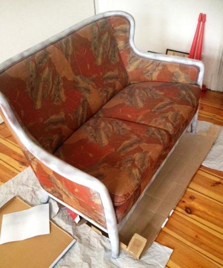 Antes y después: Convierte un viejo sofá feo en un sofisticado mueble