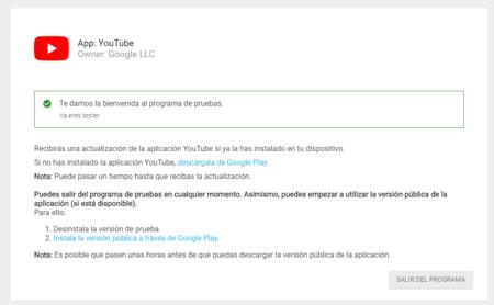 Tester Youtube