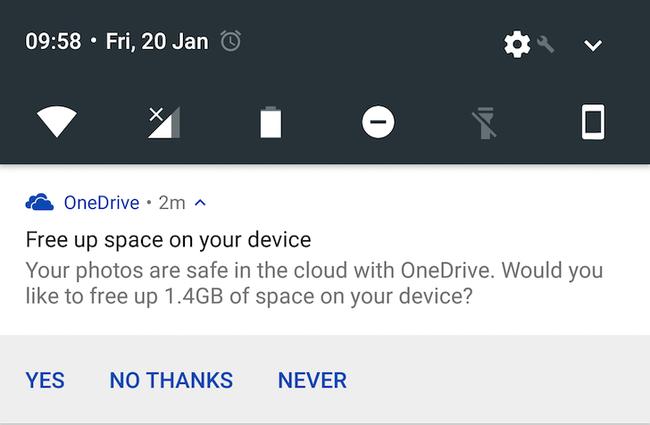 OneDrive permitirá liberar espacio borrando de golpe todas las fotos con copia de seguridad ¡pruébalo ya!