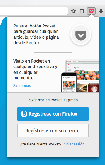 Pocket Firefox Login