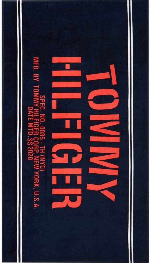 Tommy Hilfiger Toalla de mar o Esponja de Piscina o SPA cm.180x100 artículo UU0UU00036 Towel