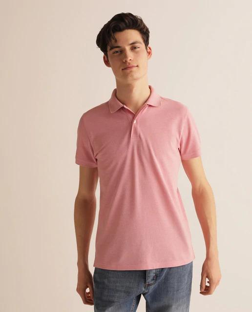 Polo de hombre regular rosa de manga corta