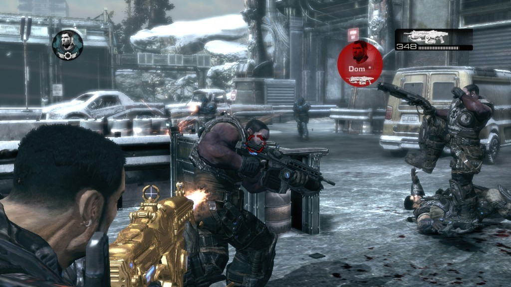'Gears of War 2' mapas Snowblind
