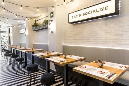 Comer y socializar, así del claro es el lema de la nueva hamburguesería AviBurger en Madrid