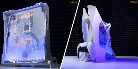 Este modder de PC ha creado una PS5 con refrigeración líquida, y ahora planea comercializar su invento