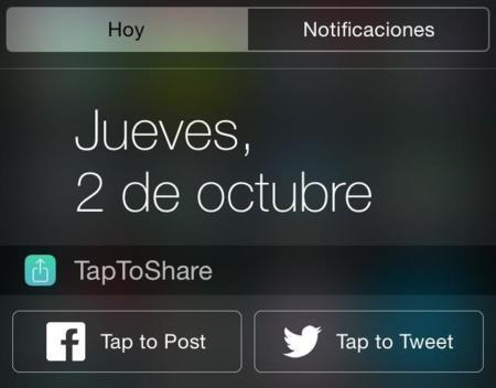 TapToShare, actualiza tu estado en Facebook y Twitter desde el centro de notificaciones