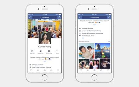 Facebook agrega nuevos cambios para mejorar los perfiles en móviles