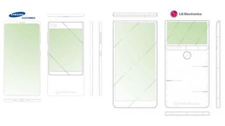 Samsung y LG ya experimentan con teléfonos con pantalla trasera, según sus patentes