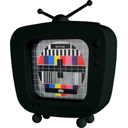 Marco de fotos con forma de TV retro