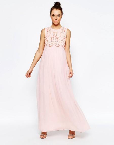 Maxi Vestido Premama Rosa