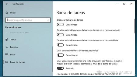 Opciones Barra