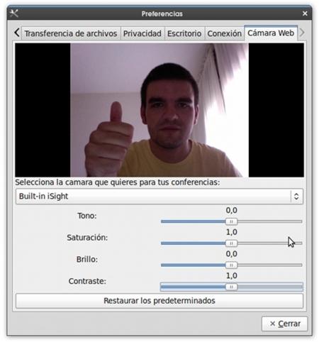 Emesene 1.5 añade soporte para webcam