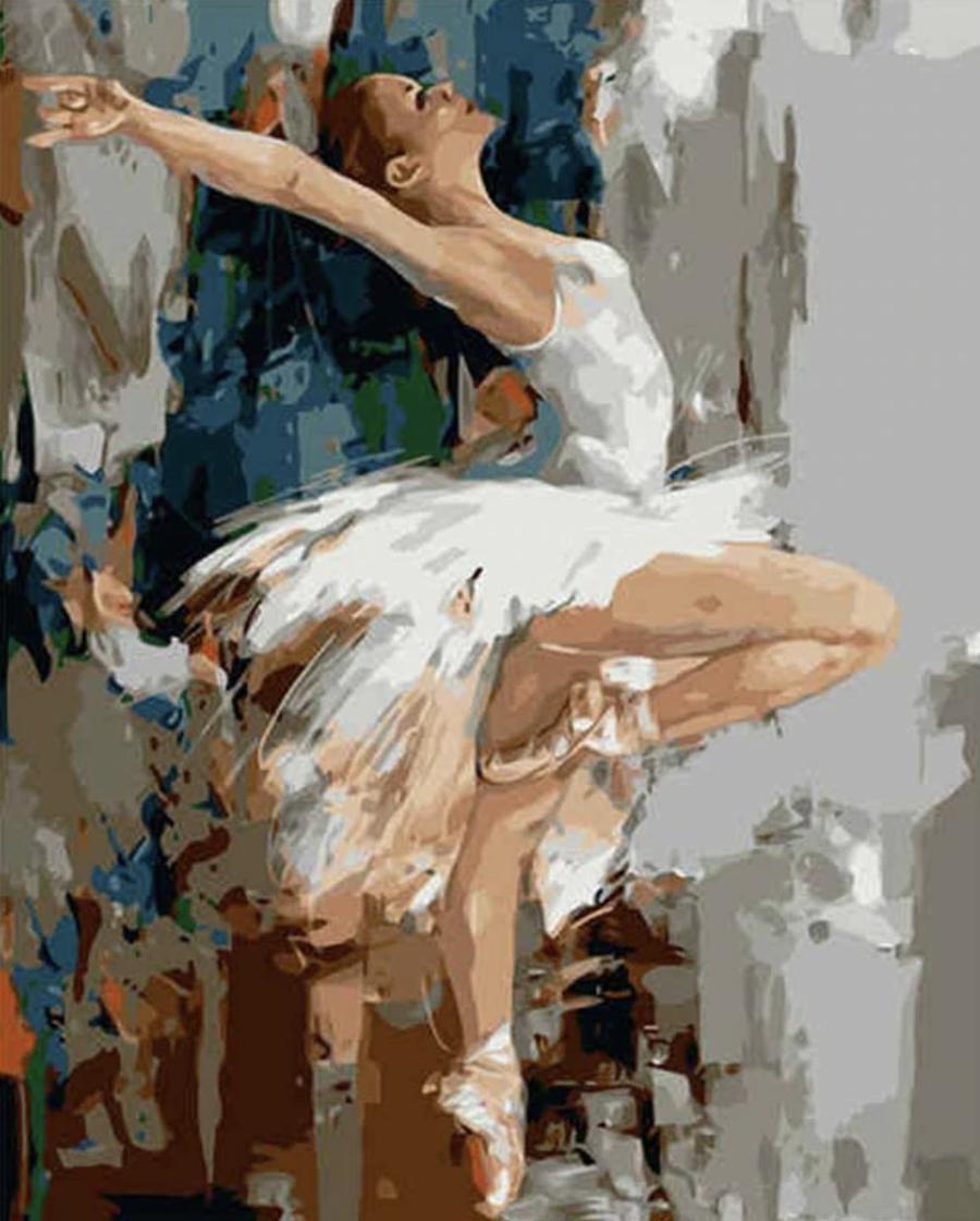 Pintura por números - bailarina