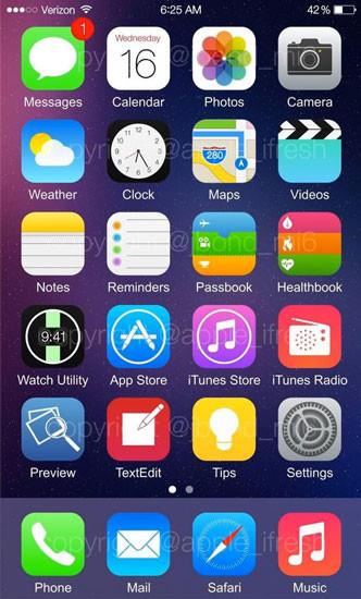 Algunas filtraciones de iOS 8 y su nuevo software