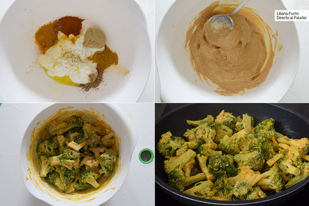 Brócoli con salsa de Yogur. Pasos