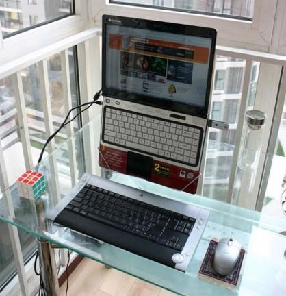 Una percha para un portátil ergonómico