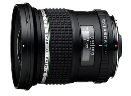 Nuevo objetivo Pentax 35mm para cámaras de formato medio digital