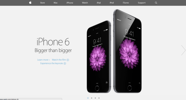 Nueva web de Apple