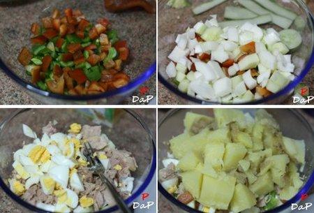 Cómo hacer ensalada campera