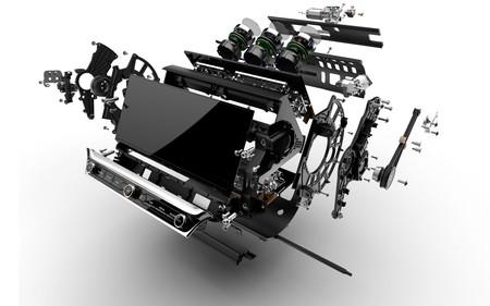 Bentley nos muestra las entrañas de su pantalla rotativa: una obra de ingeniería de 153 piezas y dos motores