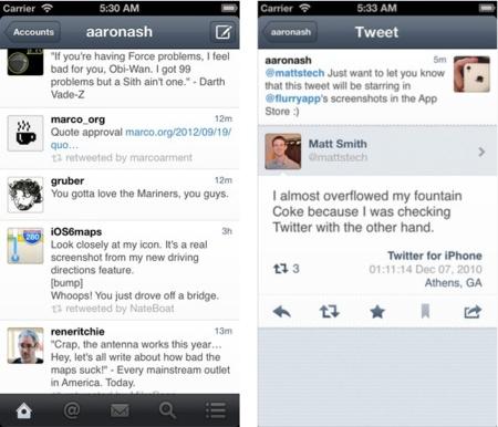 Flurry, un nuevo y completo cliente de Twitter para el iPhone