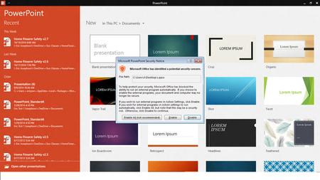 Un nuevo malware en Office te infecta con solo pasar el mouse por encima de un enlace en PowerPoint