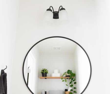 Tiny Monochrome Powder Room 7