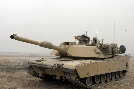 M1a1 Abrams Tank In Camp Fallujah