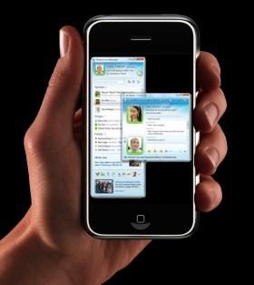 Microsoft planea lanzar versiones de Bing y Windows Live Messenger para el iPhone