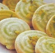 Pastas de té con pistachos
